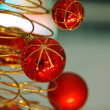 Red christmas bulbs — Stock Photo
