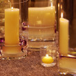 Different candleholders of glass — Stock Photo