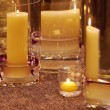 Stock Photo: Different candleholders of glass