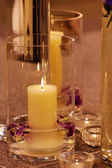 Close up shot of spa candles — Stock Photo