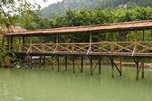 Wooden bridge — Foto de Stock