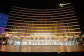 The show of fountain in front of Wynn hotel in Macau — Stock Photo
