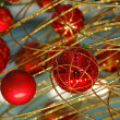 Red christmas bulbs — Stock Photo #2883392