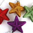 Colorful christmas stars — Stock Photo #2883393