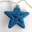 Blue christmas star — Stock Photo #34716951