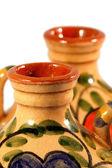 Ceramic pot with paint — Stock Photo