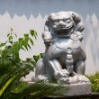 Stone lion of Chinese temple — Foto Stock
