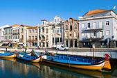 Panorama of Aveiro city and canal — Zdjęcie stockowe