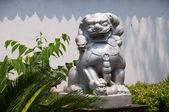 中国寺庙的石头狮子 — 图库照片