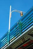 Lamppost of overbridge — Stock Photo