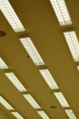 Row of fluorescent lamps — Stock Photo