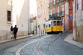Tram in Lisbon — Stock Photo