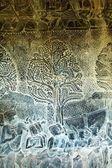Sculpted wall at corridor of Angkor Wat, Cambodia — Stock Photo