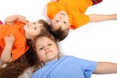 Group of children of different ages — Stock Photo