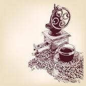 Cafeteros mano dibujado vector ilustracion — Vector de stock