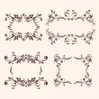 Vintage frames and design elements collection — Stock Vector