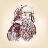 Santa Claus hand drawn vector llustration — Stock Vector