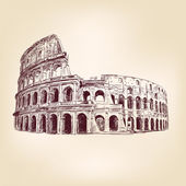 Coliseum - hand drawn — Stock Vector