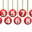 Christmas ball numbers - Stock Photo
