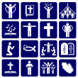 Stok Vektör: Vector icons of religious