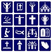 Vector iconos religiosos — Vector de stock