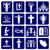 Vector icons of religious — Vector de stock