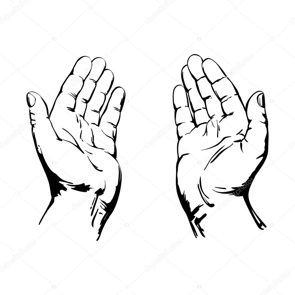 Praying Hands — Stock Vector © VladisChern #21211045