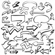 Arrows set vector illustration sketch - Stock Vector