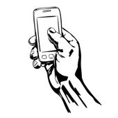 Hands Holding the Smart Phone — Vector de stock
