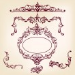 Royalty-Free Stock Vector Image: Vintage frames and design elements collection