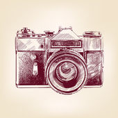 Vintage old photo camera vector llustration — Stock Vector
