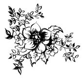 Flower vector llustration realistic sketch — Stock Vector