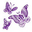 set of butterfly silhouettes vector llustration — Stock Vector