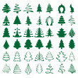 Christmas trees sketch set vector  illustration — Image vectorielle