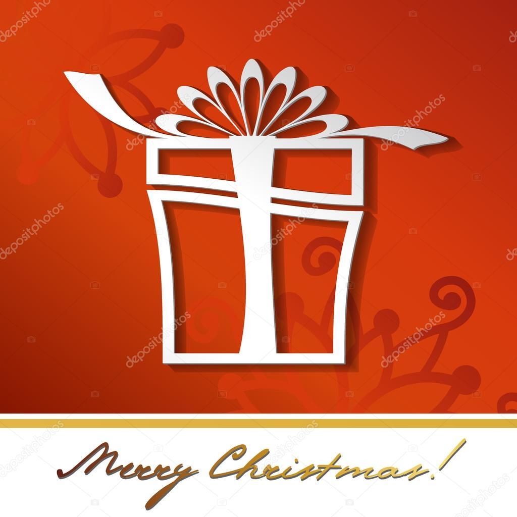 Gift box icon silhouet...