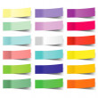 Collection of colorful vector sticky notes — Stock Vector