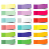 Collection of colorful vector sticky notes — 图库矢量图片