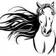 Horse hand drawn vector llustration — Stock vektor