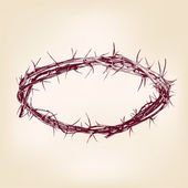 Crown of thorns hand drawn vector llustration realistic sketch — Wektor stockowy