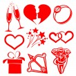 Collection icon Valentine day, vector illustrations — Stock Vector