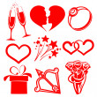 Stock Vector: Collection icon Valentine day, vector illustrations