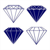 Diamond symbols vector illustration — Stockvektor