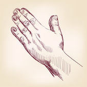 Praying Hands — Stock Vector