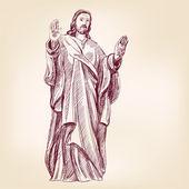 Jesus Christ Christianity hand drawn vector llustration — Stock Vector