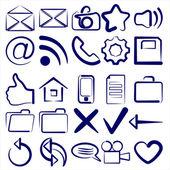 Computer Icon Collection symbols vector — Vettoriale Stock