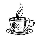 Cup of coffee cartoon vector illustration — ストックベクタ