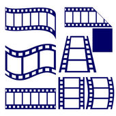 Film strip icon set vector  illustration — Stock Vector
