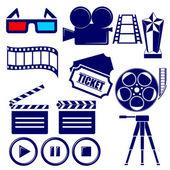 Movie icon set vector  illustration — Vecteur