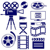 Movie icon set vector  illustration — Stock Vector