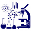 Science and chemistry icons set vector illustration — Stock Vector #43756681